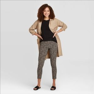 A new day animal print hi-rise skinny ankle pants